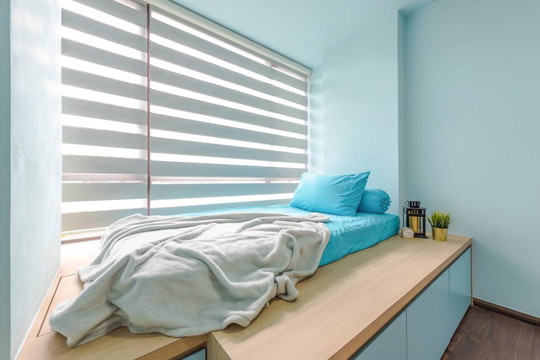 DAP Atelier Kamar tidur kecil Kayu Lapis Blue