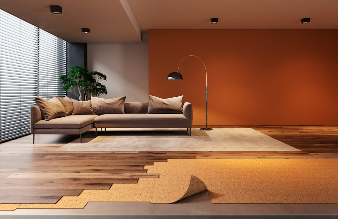 Living room by Go4cork Modern Cork