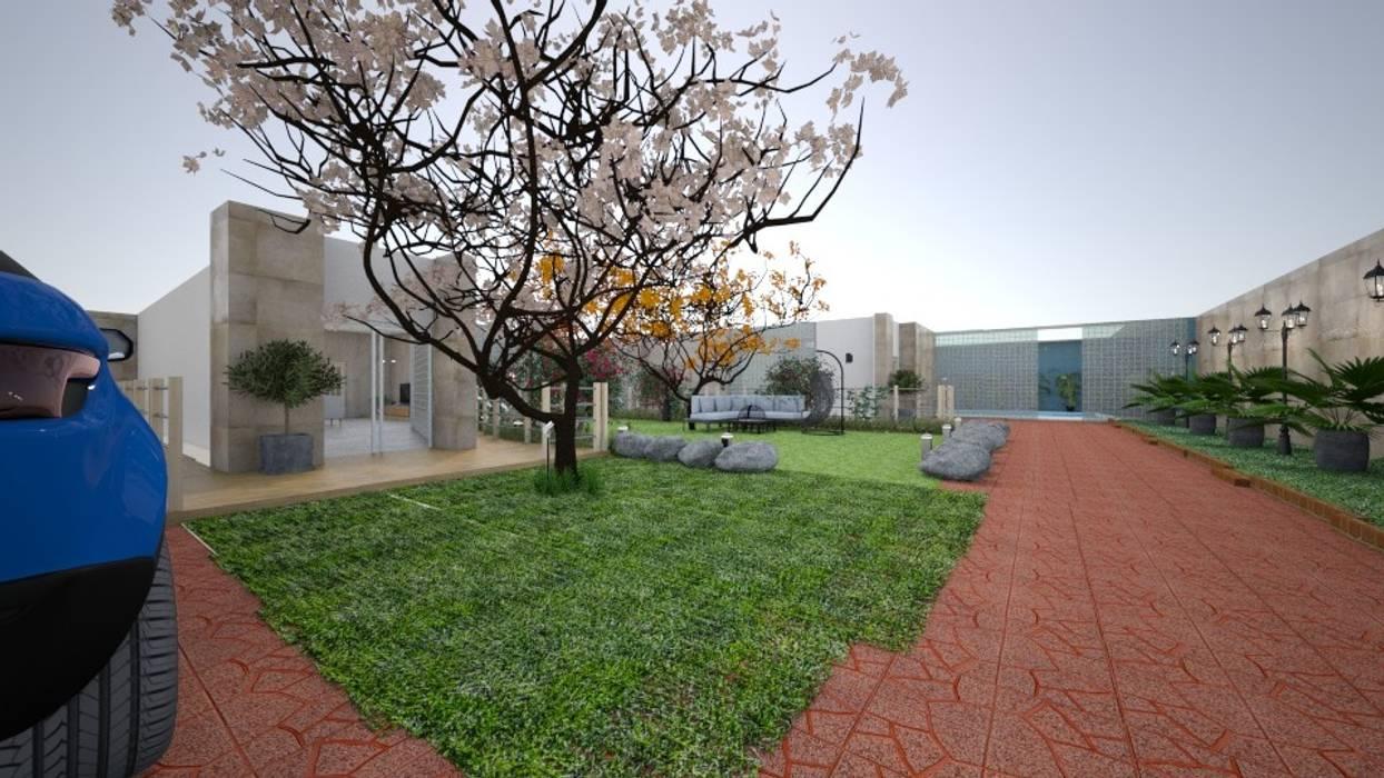 الحديقة الامامية:  منازل تنفيذ عبدالسلام أحمد سعيد, حداثي
