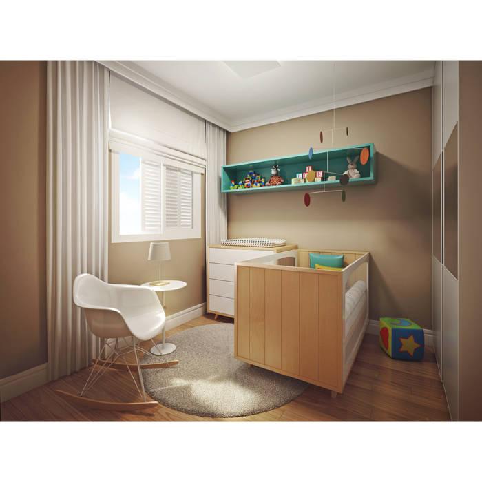 Dormitorios de bebé de estilo  por BRITA ARQUITETURA, Moderno