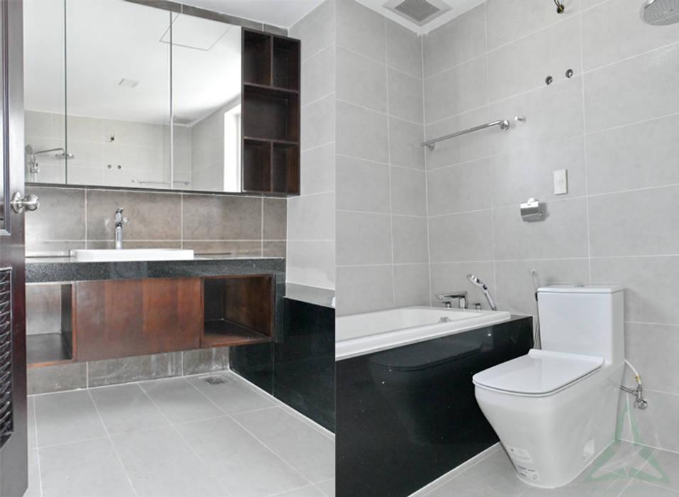 CĂN HỘ THE RIVERSIDE RESIDENCE QUẬN 7:  Phòng tắm by VAN NAM FURNITURE & INTERIOR DECORATION CO., LTD., Hiện đại