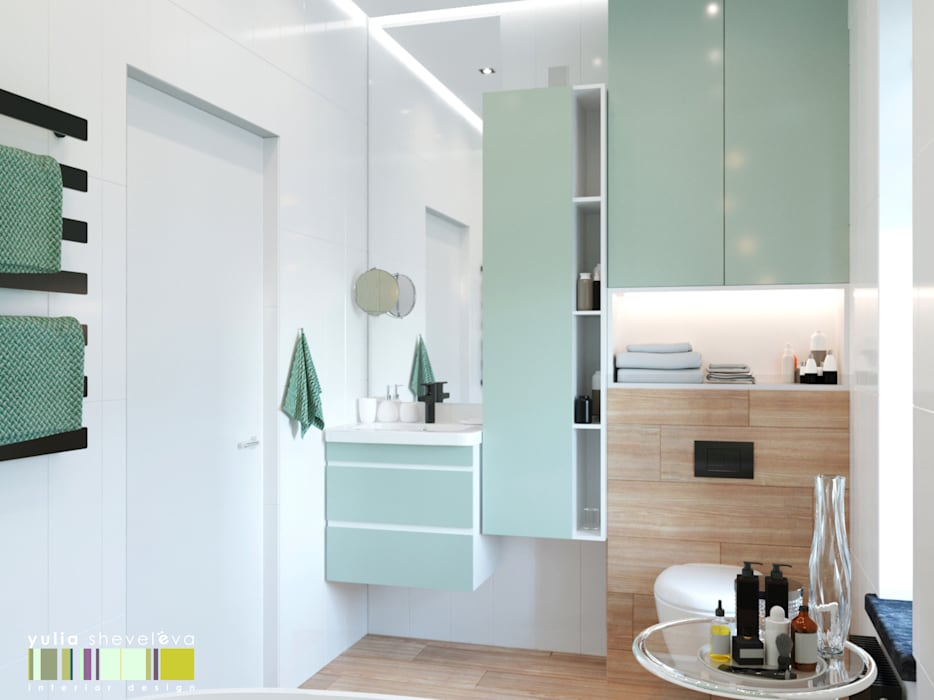 Eclectic style bathrooms by Мастерская интерьера Юлии Шевелевой Eclectic