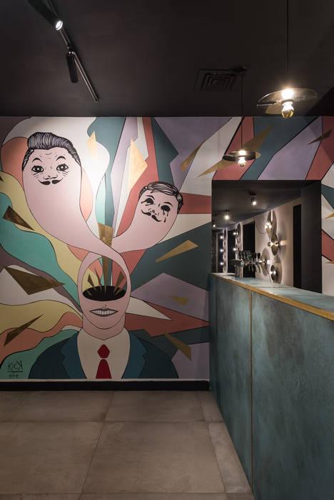 Casa del Jazz - Bo.Bo Bistrot: Ingresso & Corridoio in stile  di Grippo + Murzi Architetti,