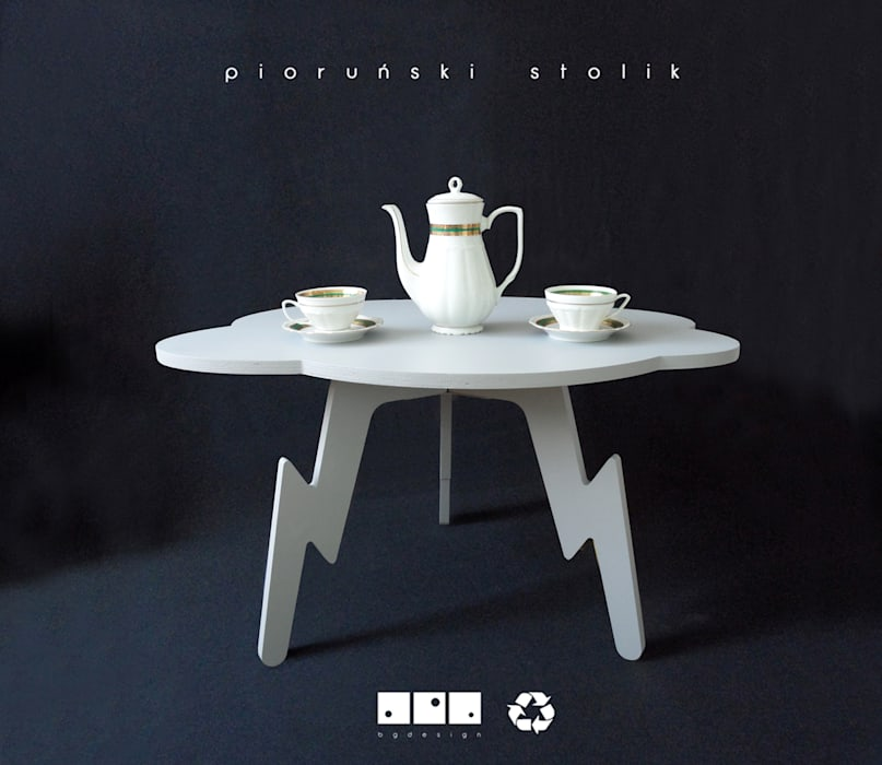 bgdesign Living roomSide tables & trays White