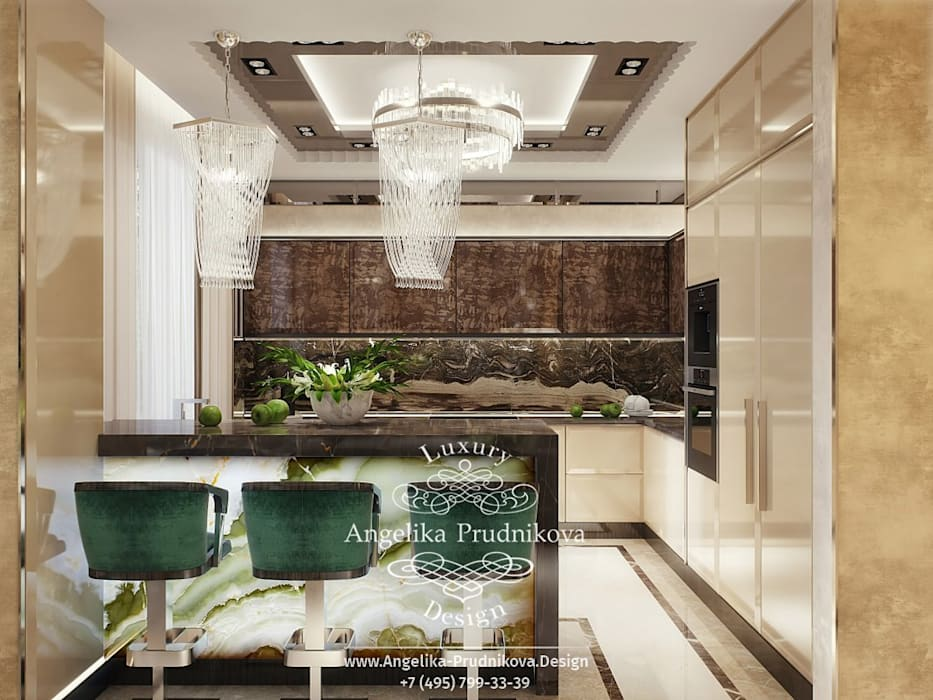 Living room by Дизайн-студия элитных интерьеров Анжелики Прудниковой, Modern