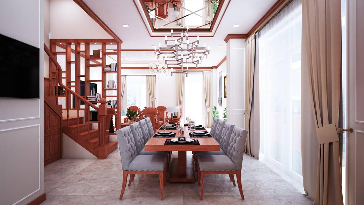 Xây dựng hoàn thiện biệt thự cao cấp Lakeview Quận 9 Phòng khách phong cách châu Á bởi TNHH xây dựng và thiết kế nội thất AN PHÚ CONs 0911.120.739 Châu Á