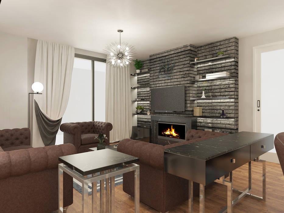 Daire Projesi, Salon Tasarımı Modern Oturma Odası Haos Design & Architecture Modern