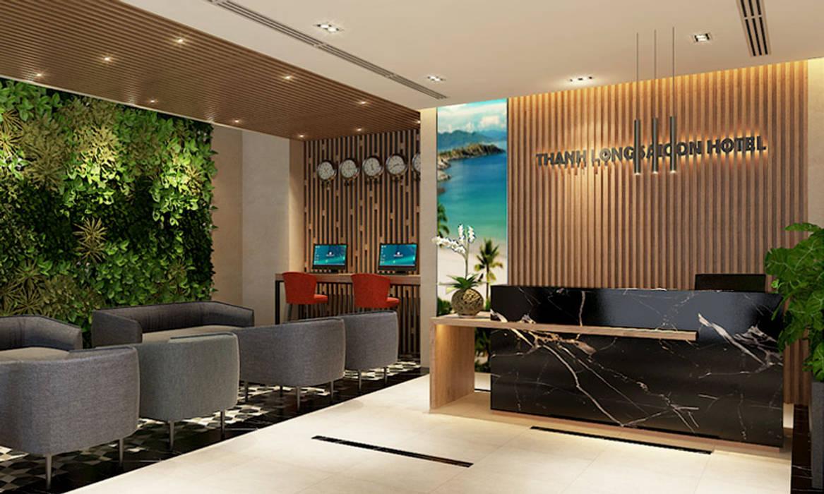 Thiết kế sảnh Lễ tân khách sạn Thành Long thiết kế khách sạn hiện đại CEEB Corridor, hallway & stairsAccessories & decoration