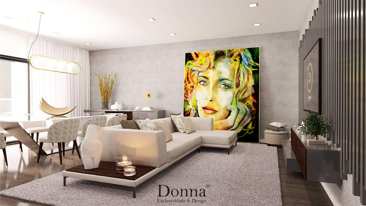 Sala de estar Salas de estar modernas por Donna - Exclusividade e Design Moderno