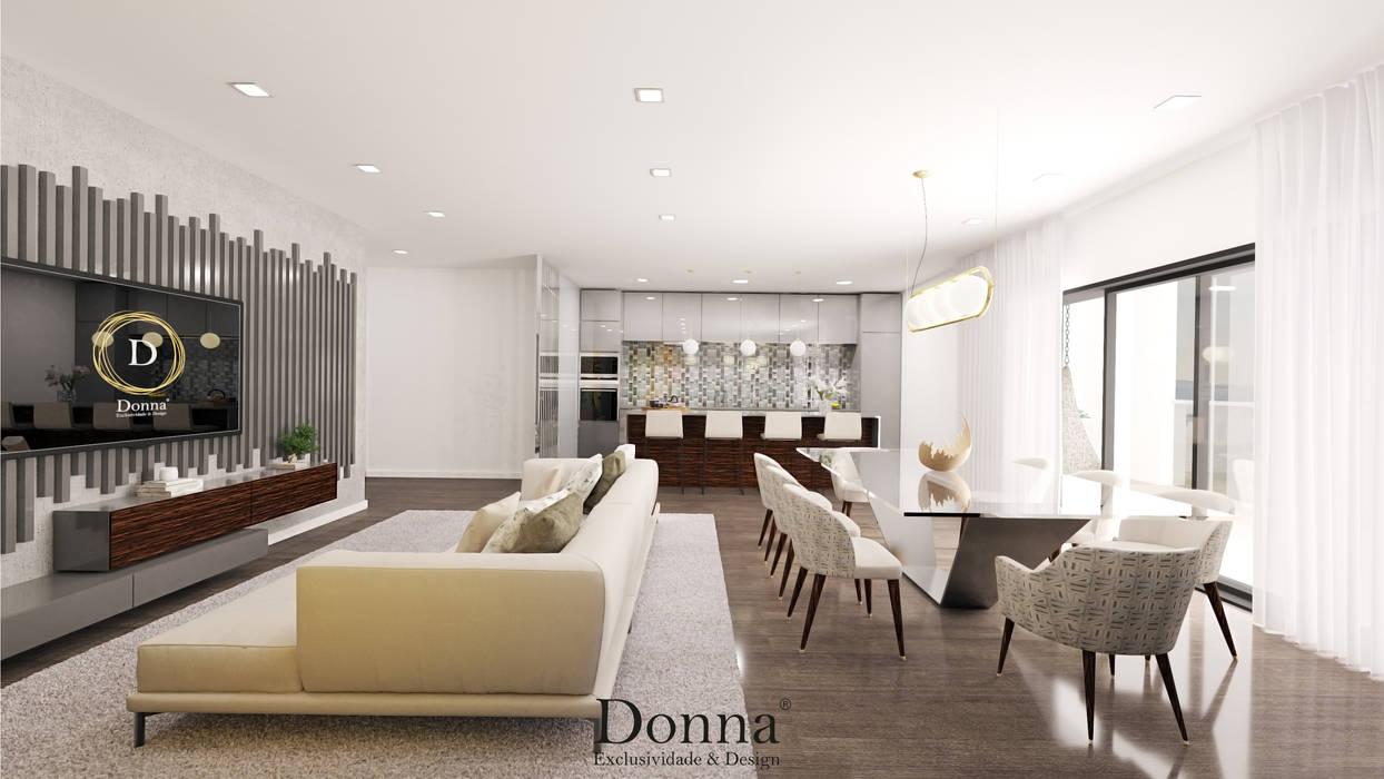 Sala + Cozinha : Cozinhas  por Donna - Exclusividade e Design,