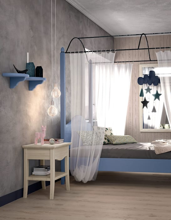 Chambre d\'adolescent de style par mobili a colori , rural ...
