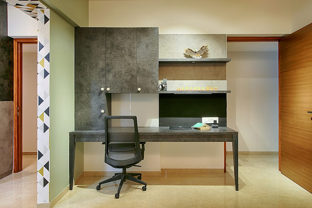 Kids Study Room:  Small bedroom by Area Planz Design,Modern