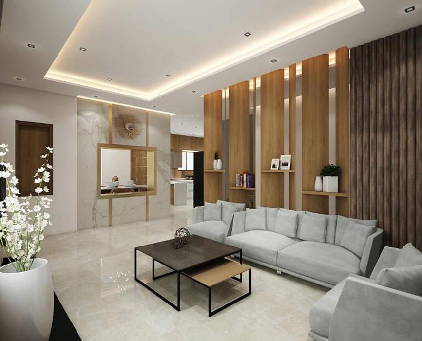 homify Living room Wood-Plastic Composite Wood effect