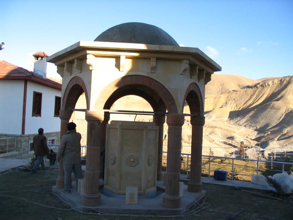 Taşcenter Acarlıoğlu Doğal Taş Dekorasyon – Kayseri taşı şadırvan modeli: modern tarz , Modern Kireçtaşı