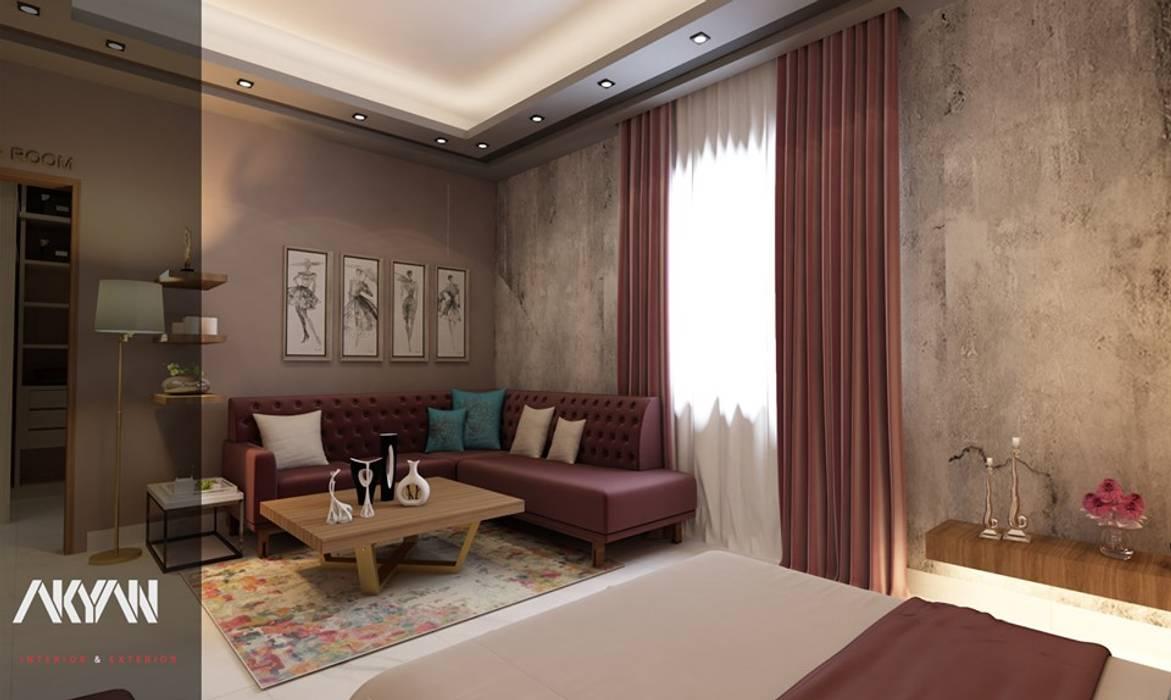 Kashmir bedroom: حديث  تنفيذ AKYAN SQUARE, حداثي مزيج خشب وبلاستيك