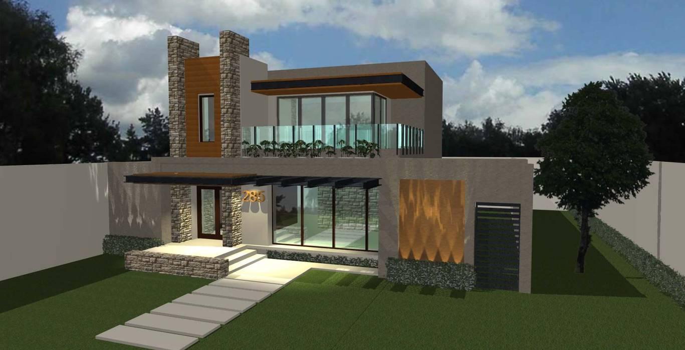 Casa de la Peña: Casas unifamiliares de estilo  por grupo ME Arquitectos,