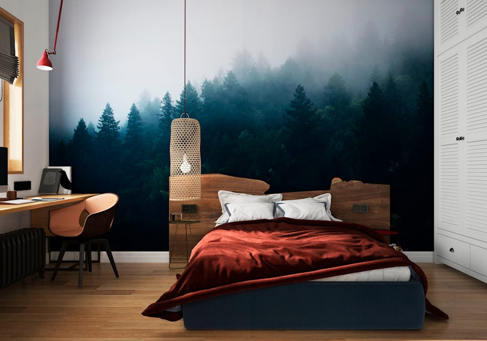 Chambre originale par Aya Asaulyuk Design Éclectique