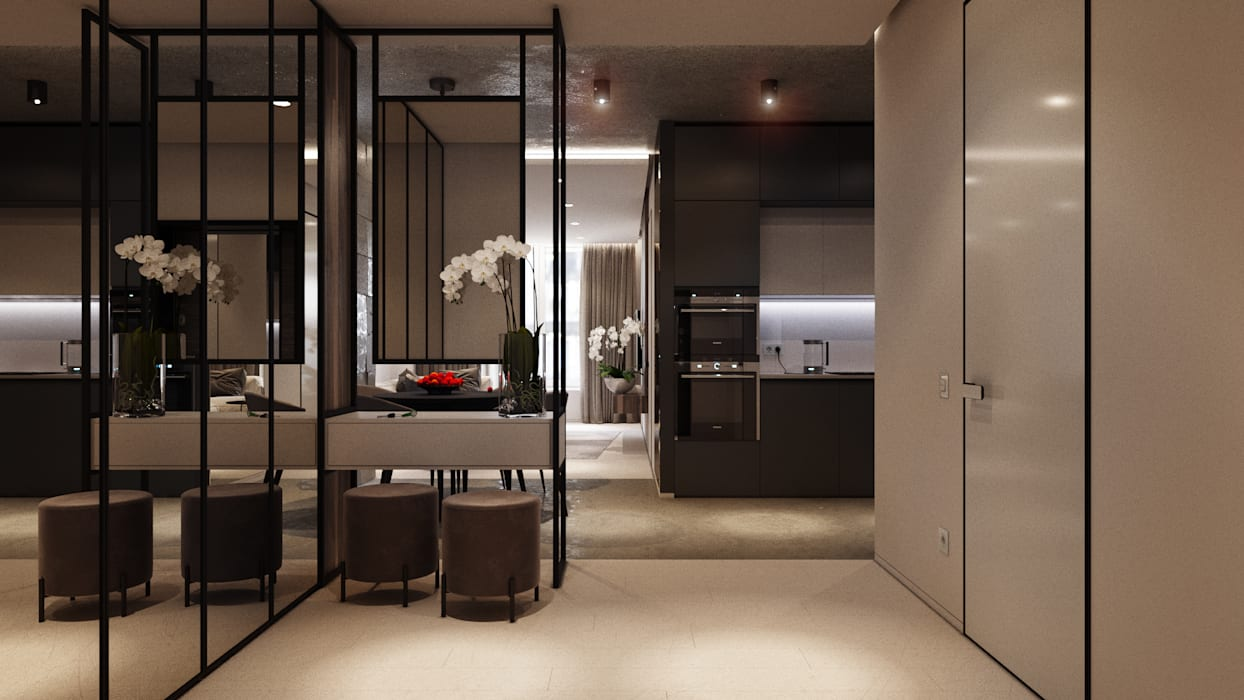 Modern corridor, hallway & stairs by ParcH Modern