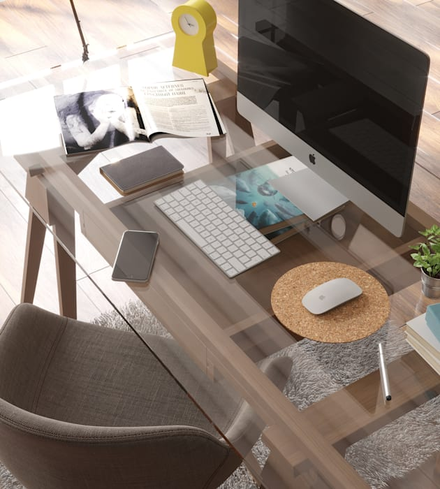 Mousepad Modern Study Room and Home Office by Go4cork Modern Cork
