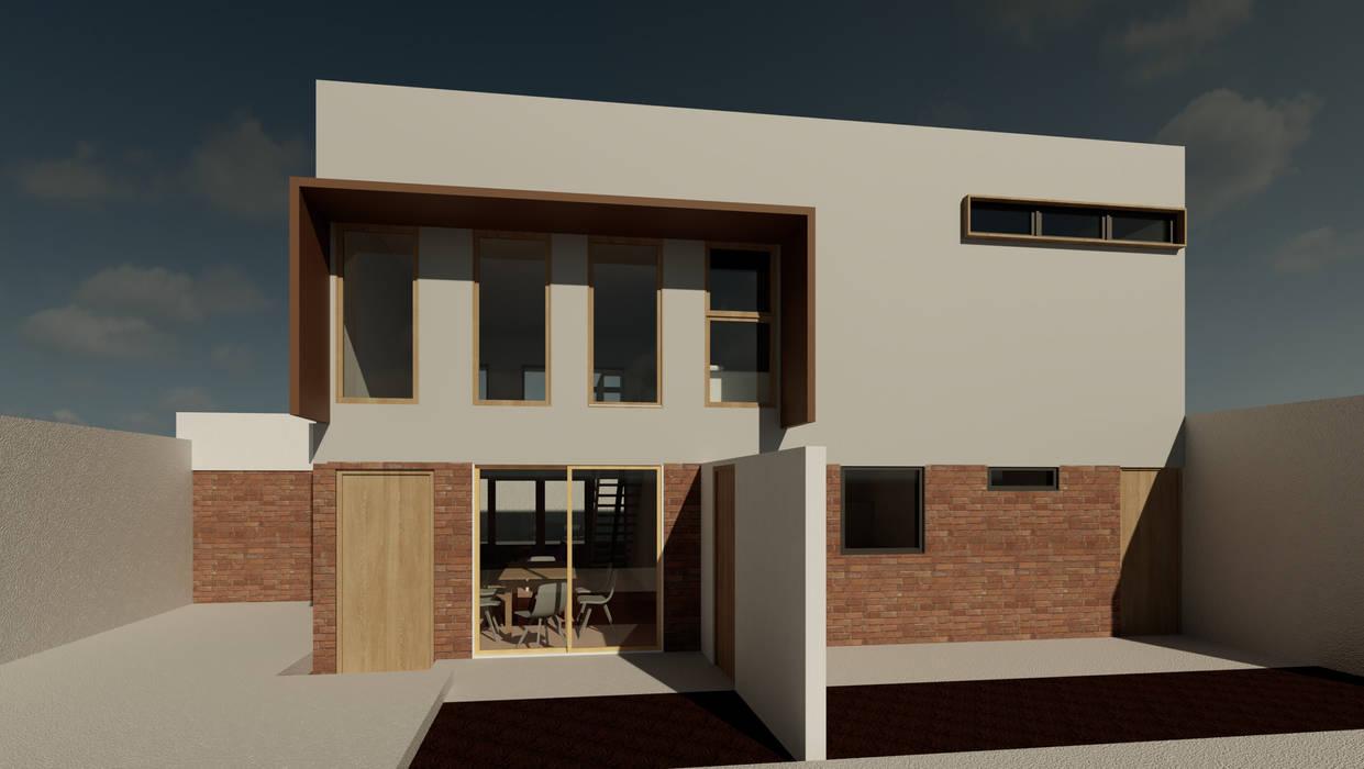 Render fachada Casas de estilo minimalista de Contreras Arquitecto Minimalista