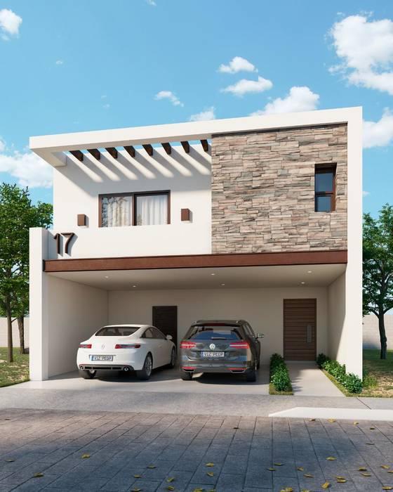 Fachada Londres VillaSi Construcciones Casas de estilo minimalista