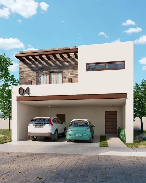 Fachada Milán VillaSi Construcciones Casas de estilo minimalista
