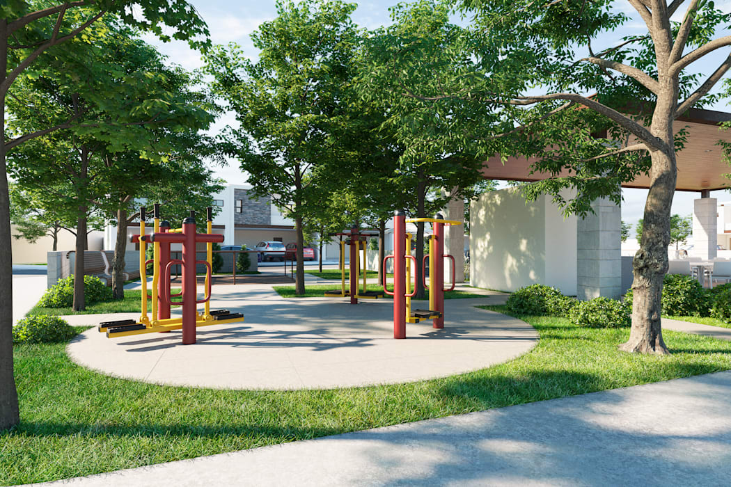 Gym exterior VillaSi Construcciones Gimnasios en casa de estilo minimalista