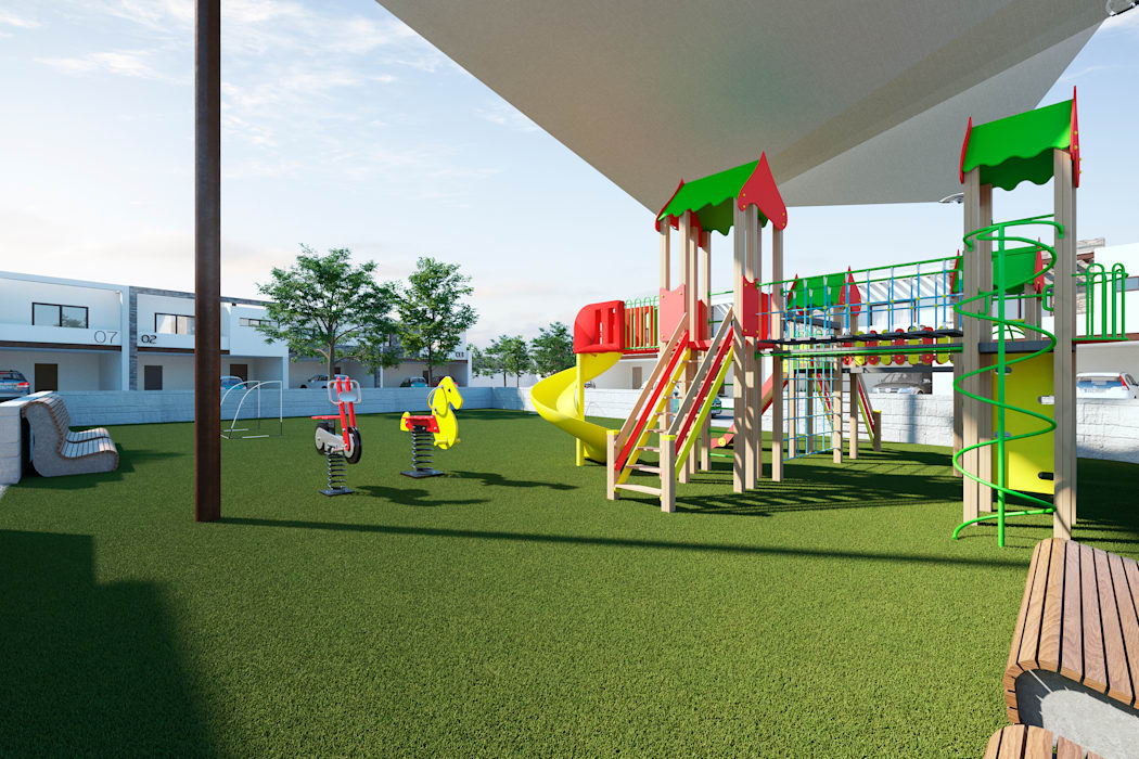 Juegos infantiles VillaSi Construcciones Jardines de estilo minimalista