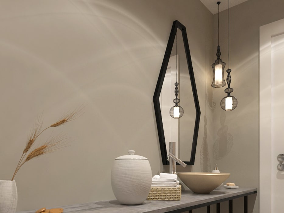 KALYA İÇ MİMARLIK – Misafir WC - Ayna:  tarz Banyo,
