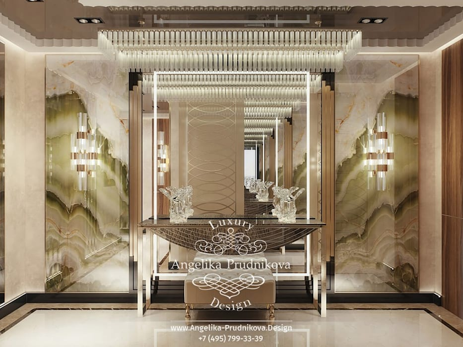 Corridor & hallway by Дизайн-студия элитных интерьеров Анжелики Прудниковой, Modern