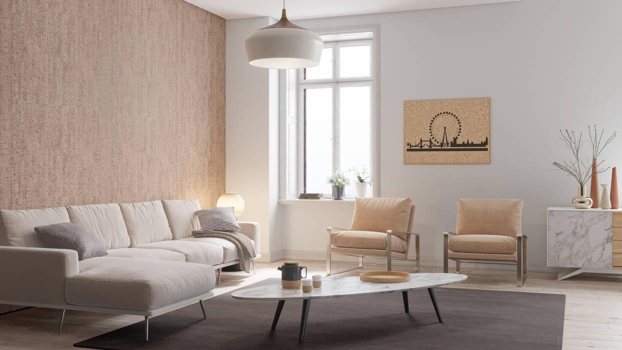Living room by Go4cork, Modern Cork