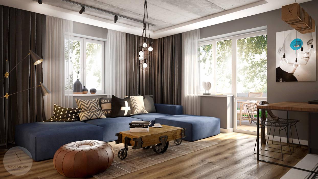 Nevi Studio Living room Concrete