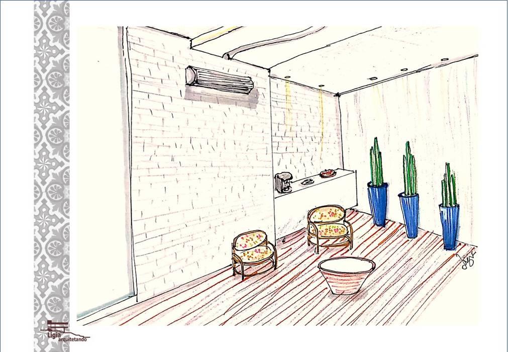 espaço café por Ligia Arquitetando Rústico Madeira Acabamento em madeira