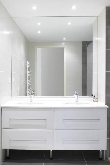 Une salle de ain épurée salle de bain moderne par skéa ...