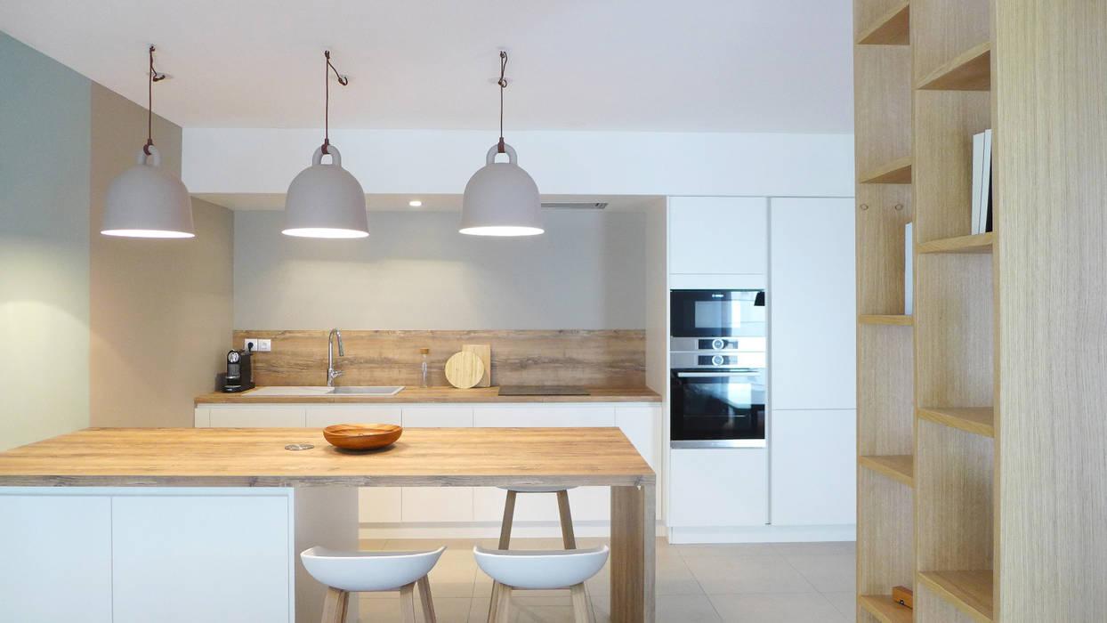Une Cuisine Ouverte Avec Ilot Cuisine Moderne Par Skea Designer