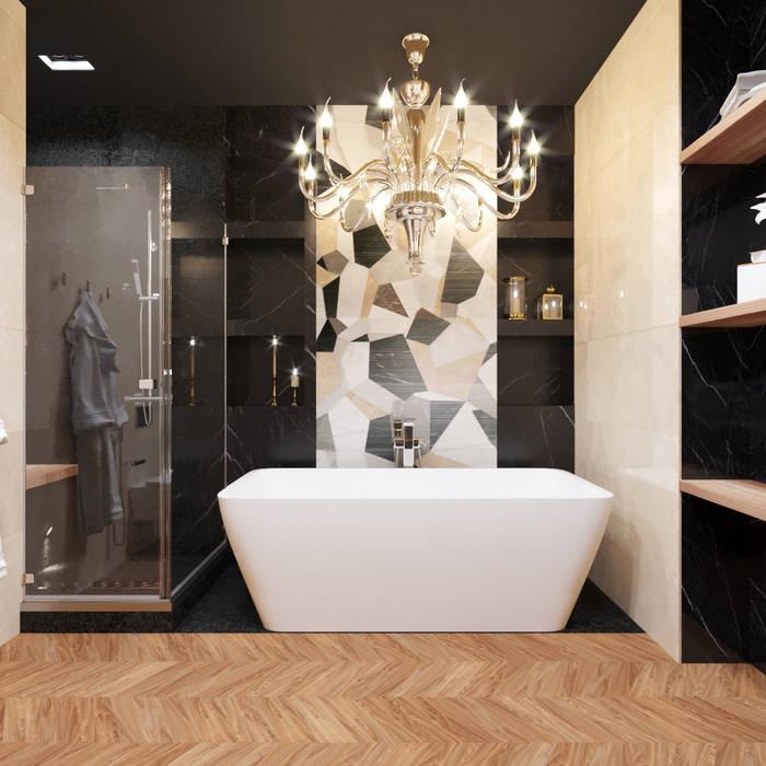 Phòng tắm theo Дизайн студия 'Чехова и Компания', Chiết trung Gỗ Wood effect