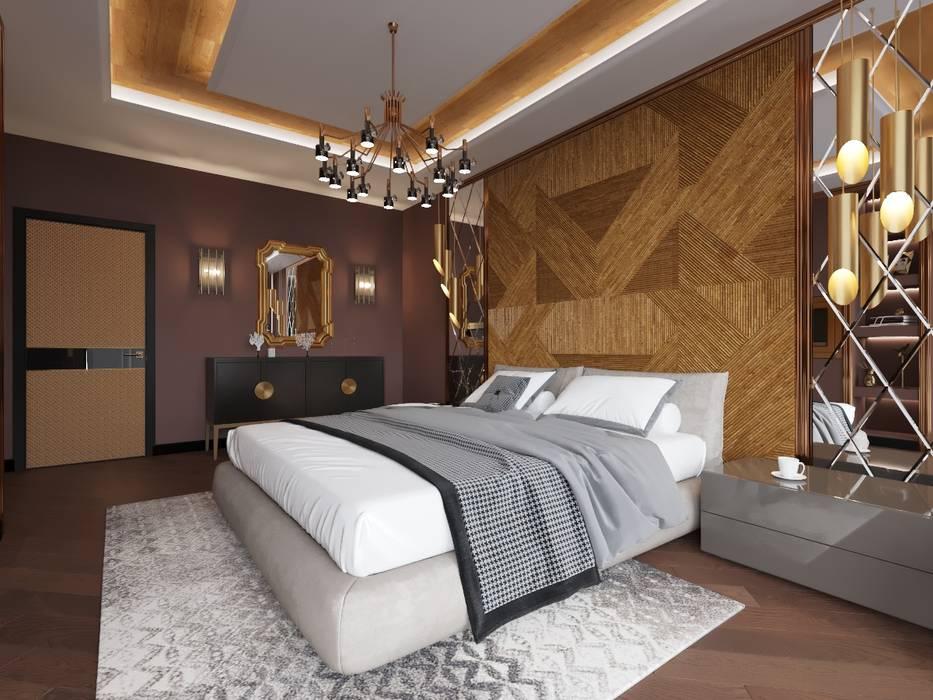 Chambre originale par Дизайн студия 'Чехова и Компания' Éclectique Bois Effet bois