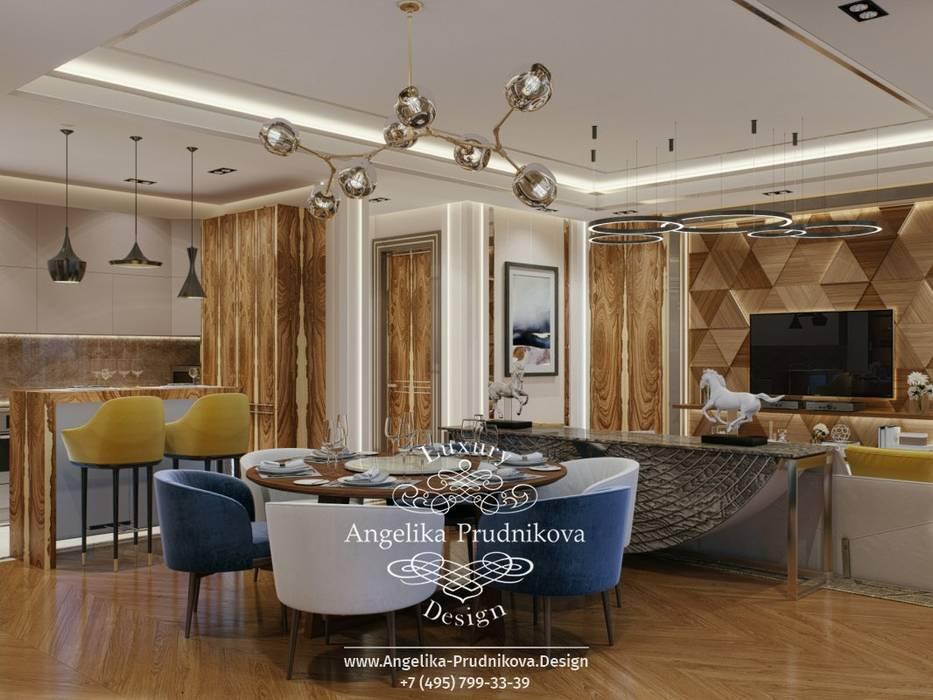 Living room by Дизайн-студия элитных интерьеров Анжелики Прудниковой, Industrial