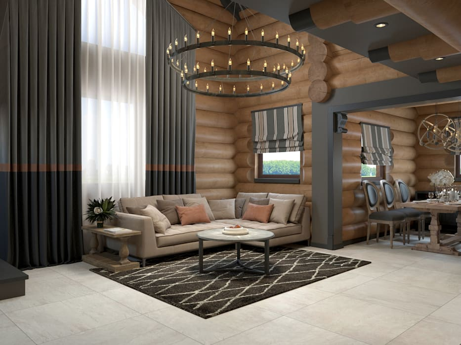 Living room by Wide Design Group, Country