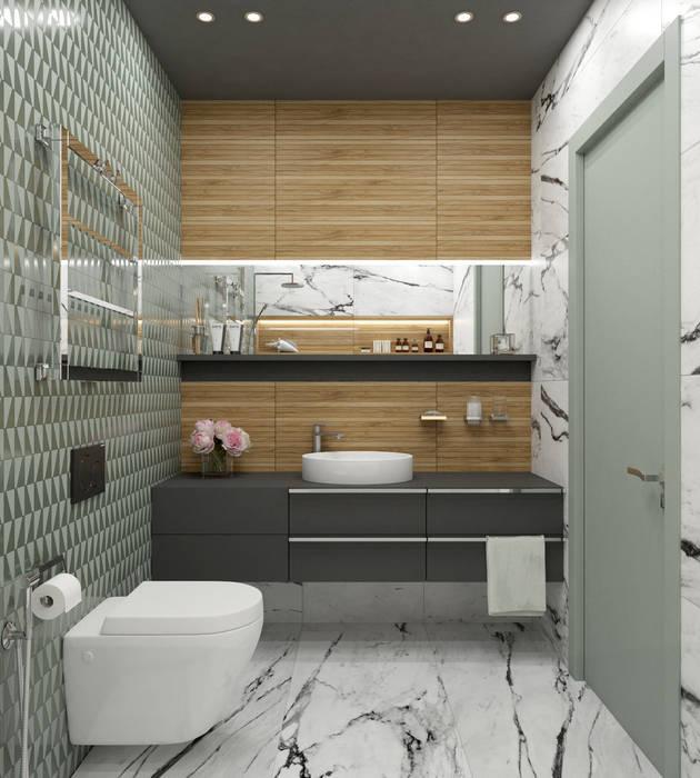 Baños de estilo escandinavo de Wide Design Group Escandinavo