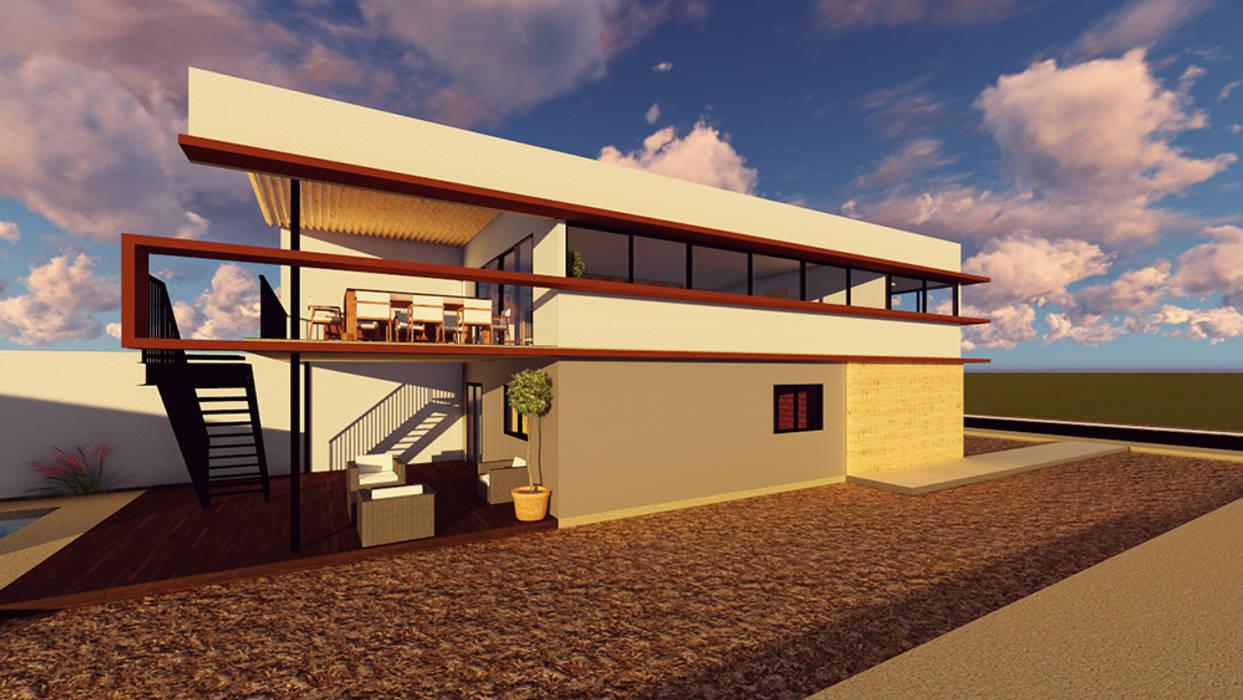 Vista exterior: Condominios de estilo  por Contreras Arquitecto,