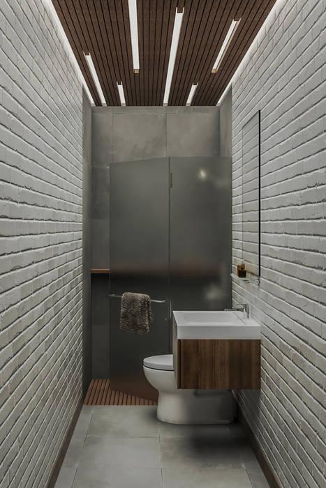 KR BATHROOM Kamar Mandi Minimalis Oleh Kolletra Visual Studio Minimalis Batu Bata
