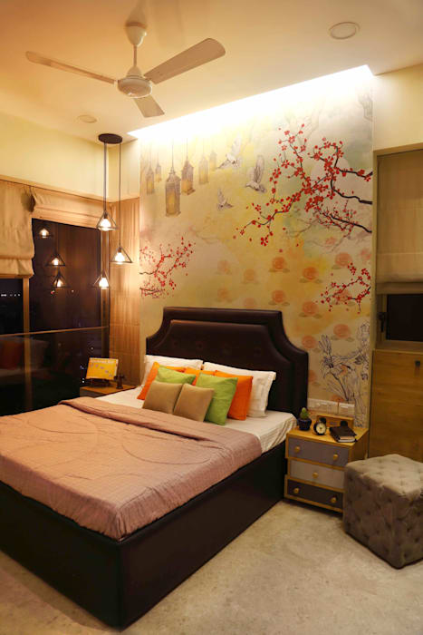 .. Eclectic style bedroom by Neha Changwani Eclectic