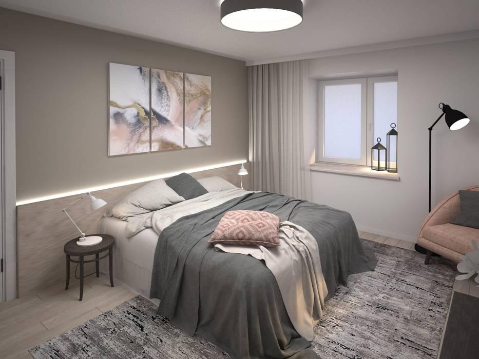 Квартира для мудрой пары_ Спальня Спальня в стиле минимализм от Tafeta студия дизайна Минимализм