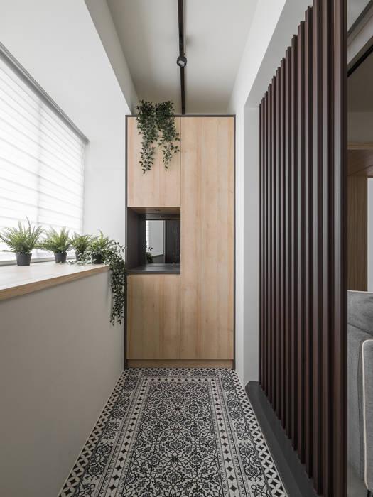 玄關:  飯店 by 你你空間設計, 北歐風 木頭 Wood effect