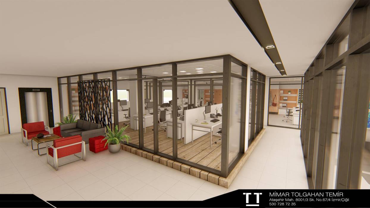 Ofis İç Mekan Tasarımı Modern Çalışma Odası TT MİMARLIK Modern Seramik