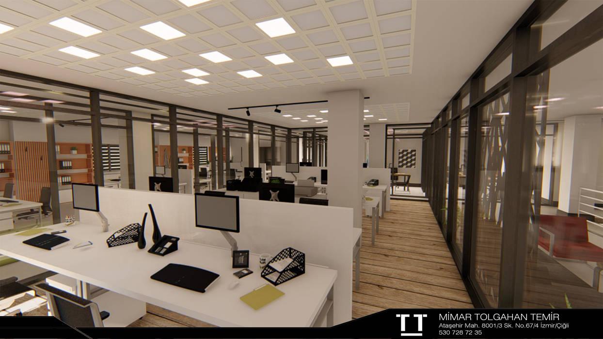 TT MİMARLIK – Ofis İç Mekan Tasarımı:  tarz Zeminler, Modern Ahşap Ahşap rengi