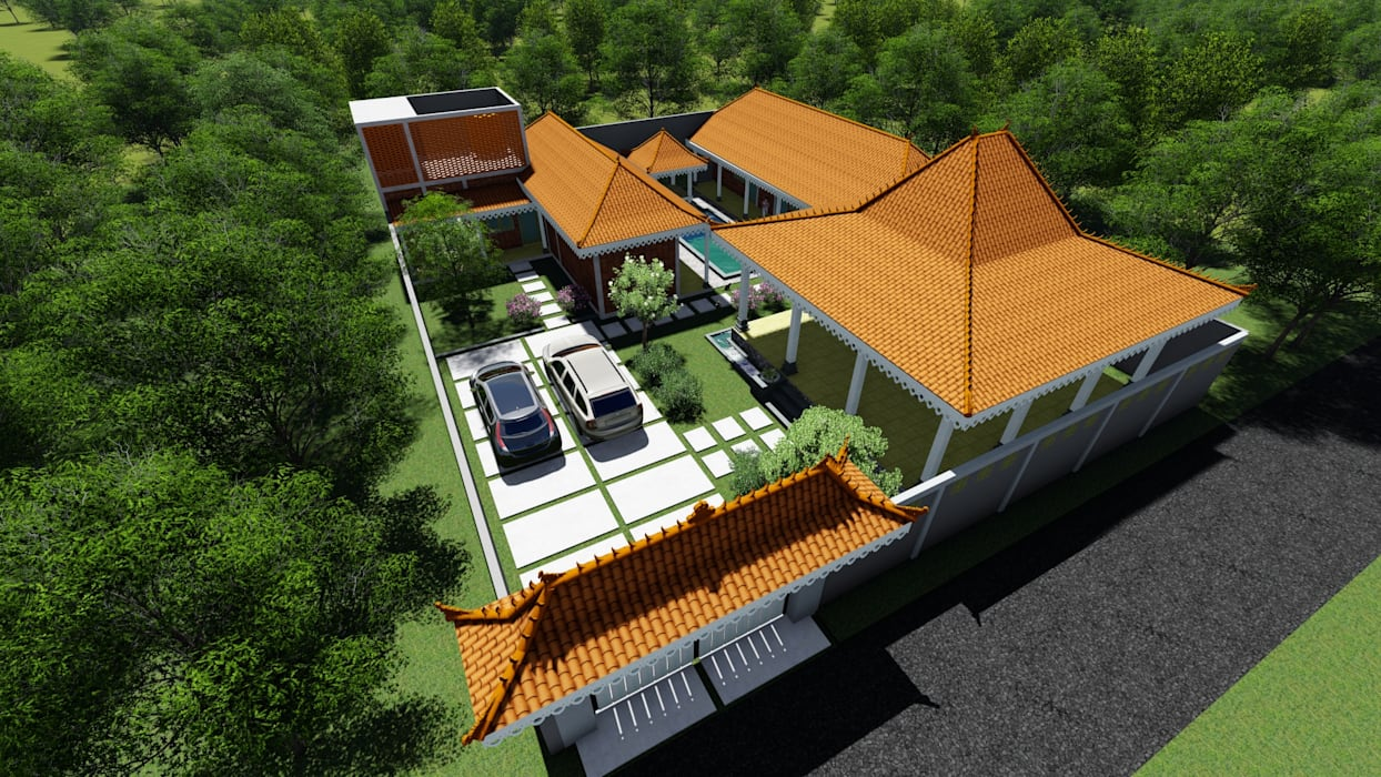 Tropical style houses by Chans Architect Tropical