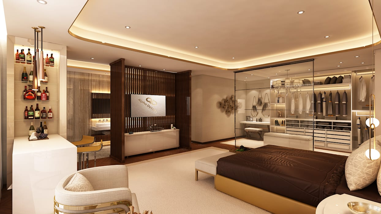 Dormitorios de estilo  por Alpha Details, Clásico