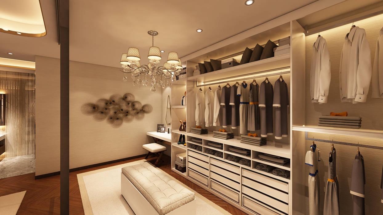 Suite Penthouse Geneva: Closets  por Alpha Details,Moderno